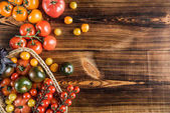 Fresh tomatoes in basket
