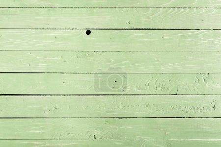 Photo for Light green wooden background with horizontal planks - Royalty Free Image