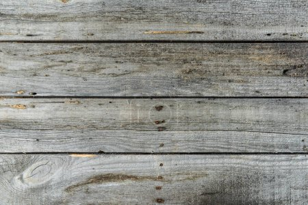 Photo for Grey rustic wooden background with horizontal planks - Royalty Free Image