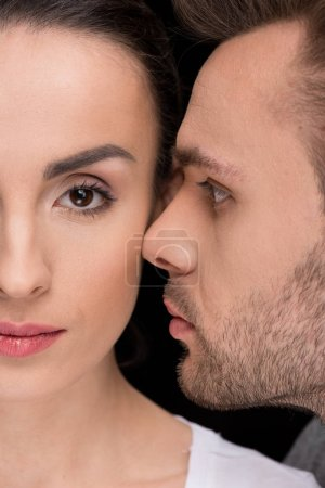 faces of woman and man