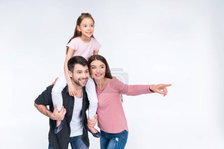 Happy family with one child