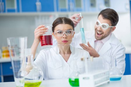 Scientists working in lab