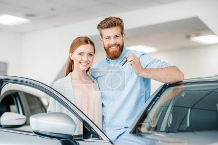 couple in dealership salon