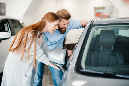 Couple choosing new car