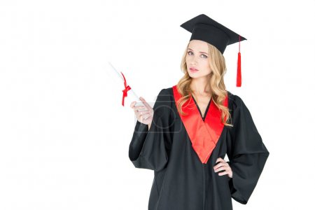 Student holding diploma
