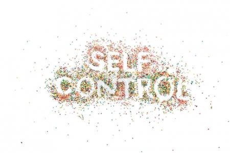 Self control lettering from sweets