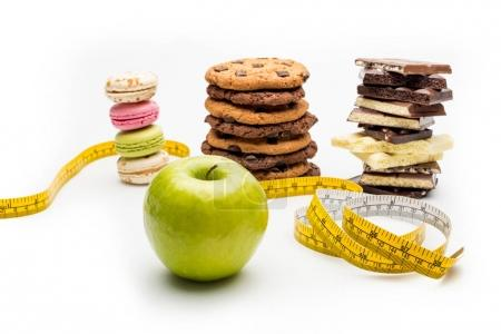Macaroons, cookies and chocolate