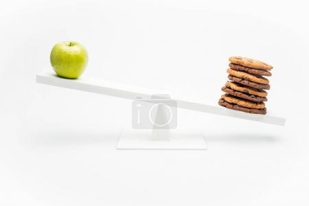 apple and cookies on swing