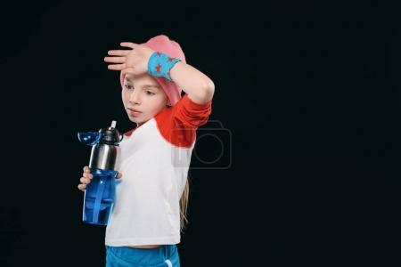 girl with sport bottle