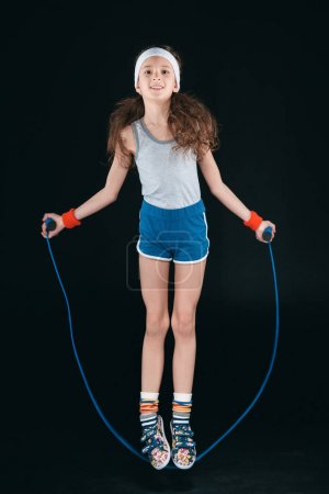 girl jumping on skipping rope