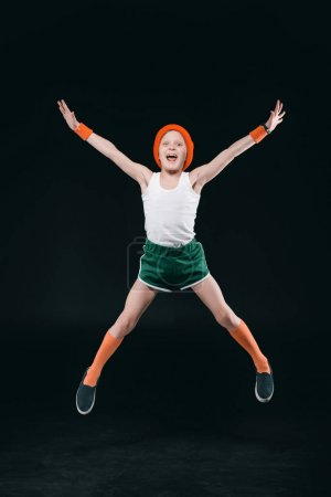 Sporty boy jumping