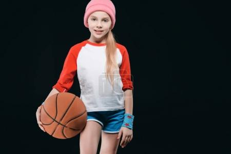 Sporty girl with ball