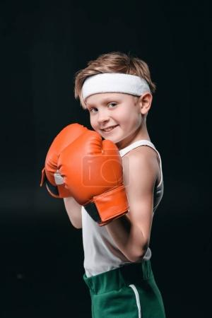 boy in boxing gloves