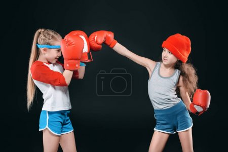 kids pretending boxing
