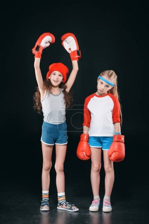 girls in boxing gloves