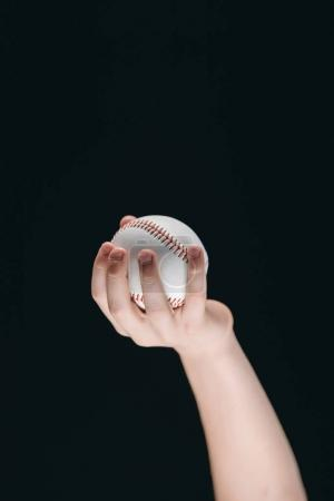 Kid holding baseball ball