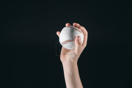 Kid holding baseball ball