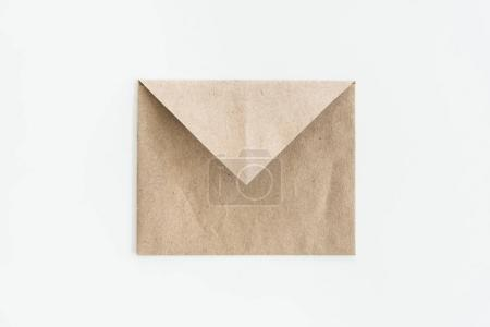 top view of kraft envelope