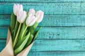 """Постер, картина, фотообои """"Светло-розовые тюльпаны"""""""