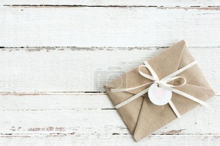 Decorative envelope with ribbon