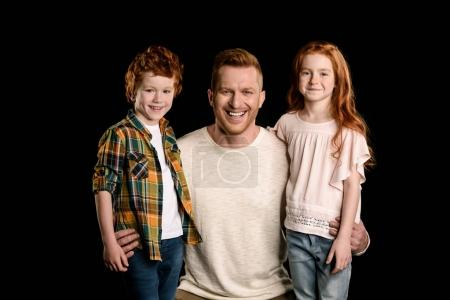 father with redhead children