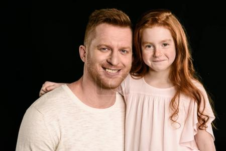 father with redhead daughter