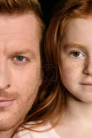 Beautiful father and daughter