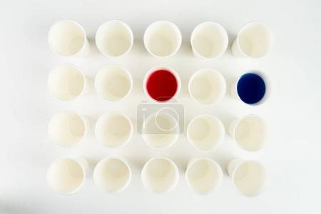 Set of plastic cups