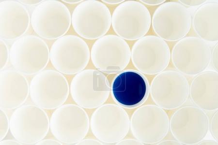 Set of plastic cups