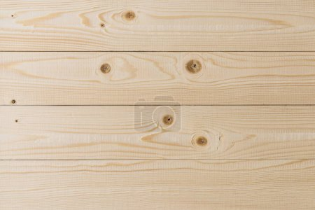 Photo for Empty light wooden planking texture wall background - Royalty Free Image