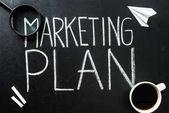 Marketing plan lettering