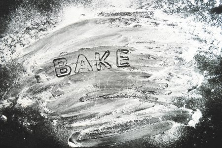 baking forms stencil with flour