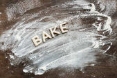 Word bake from cookies