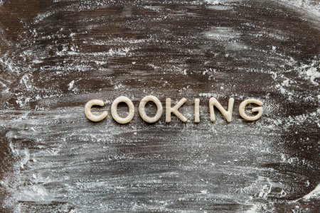 word cooking made from dough