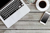 wireless devices and coffee cup