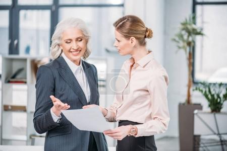 Businesswomen discussing in office