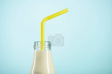 milkshake in glass bottle