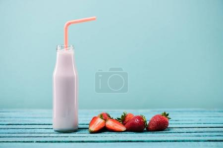 Delicious strawberry milkshake