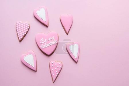 Handmade cookies in heart shape