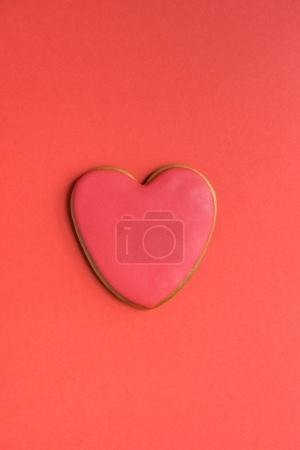 Gingerbread cookie with red icing