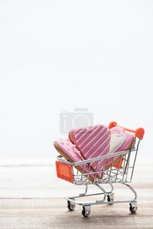 Shopping trolley full of cookies
