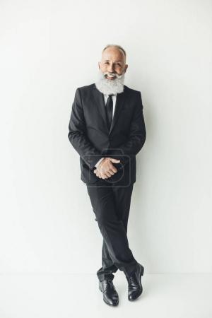 stylish senior businessman