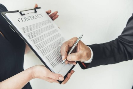 business partners sign contract