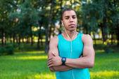 confident african american sportsman