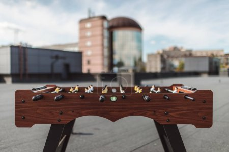 table football on roof
