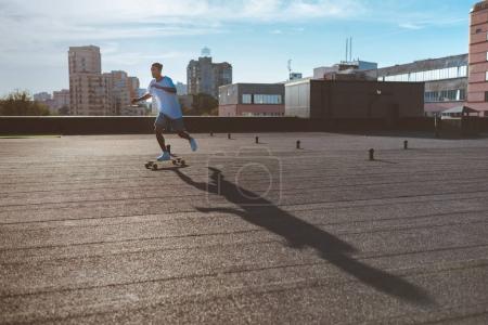 riding skateboard