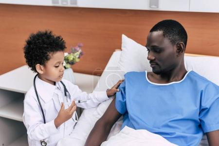 African american doctor and patient