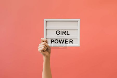 board with girl power lettering