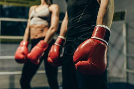 boxers in boxing gloves