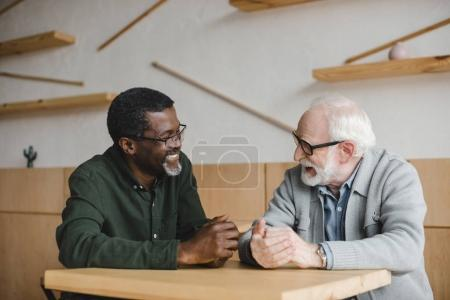 senior friends having discussion